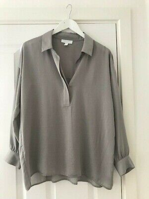 £3.99 • Buy The White Company White Label Size 10 Grey Tunic Top