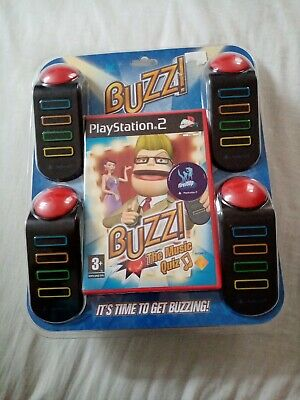 £32 • Buy Buzz! The Music Quiz (PS2) Game+4 Buzzers Box Set; New & Sealed