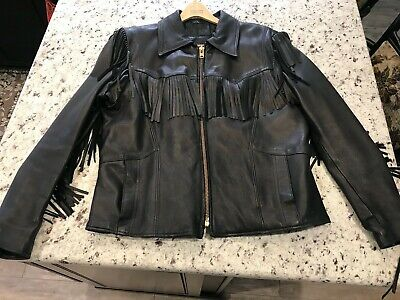 $62.50 • Buy Men's Branded By Orchard Fringe Leather Jacket 46! Vintage Great Condition!