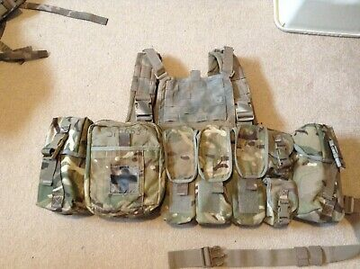 £75 • Buy Warrior Assault Systems Chest Rig With Issued Pouches MTP MOLLE UKSF Multicam