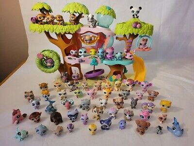 £17 • Buy Littlest Pet Shop Bundle With Magic Motion Tree House & 65 Figures SEE ALL PICS
