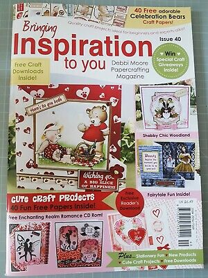 £4 • Buy Inspiration Papercrafting Magazine By Debbi Moore Issue 40 & Accompanying CD Rom