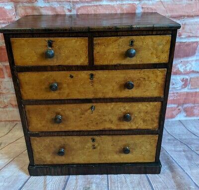 £395 • Buy Antique Lockable Collector's Cabinet - Miniature - Desktop Chest Of Drawers