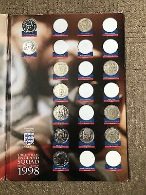 £1 • Buy Rare 1998 Sainsburys The Official England Squad World Cup Medal Coins Collection