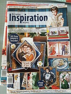 £5 • Buy Inspiration Papercrafting Magazine By Debbi Moore Issue 11 & Accompanying CD Rom
