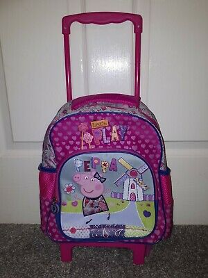 £10.99 • Buy Peppa Pig Backpack Trolley Wheeled Case Hand Luggage Pink Bag Carry