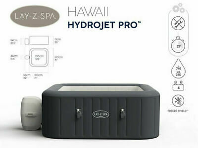 £1095 • Buy Lay Z Spa Hawaii Hydrojet Pro™ (6 Person) Hot Tub Spa 2021 ⭐👍
