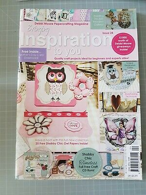 £5 • Buy Inspiration Papercrafting Magazine By Debbi Moore Issue 24 & Accompanying CD Rom