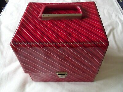 £14.95 • Buy Vintage Original 1960's RECORD CARRYING CASE For 7  Singles Red