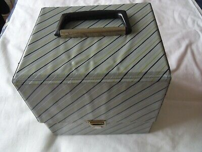 £14.95 • Buy Vintage Original 1960's RECORD CARRYING CASE For 7  Singles Grey