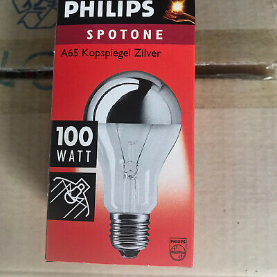 £20 • Buy Philips 100W ES CROWN SILVER LAMPS PACK OF 14 Lamps