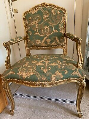 £125 • Buy Louis XV Style Antique Carved Gold Chair