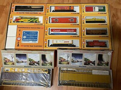 $ CDN200 • Buy Complete Robinhood Cox Train Set With 2 Walther Auto Cars Unopened