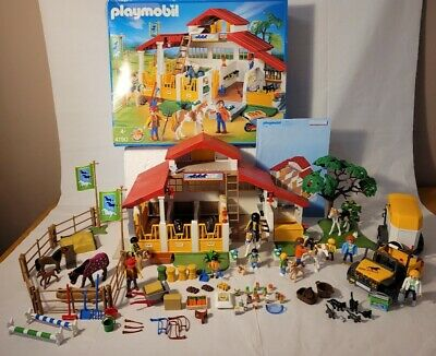 £26 • Buy Playmobil 4190 Horse & Pony Farm With Extra Figures & Horses Boxed SEE ALL PICS