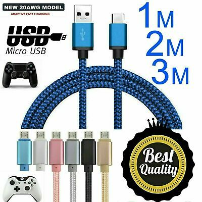 AU5.59 • Buy 3M 2M Wire Charge USB Charging Charger +Play Cable For PS4 & XBOX One Controller
