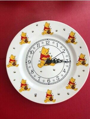 £10.97 • Buy Winnie The Pooh Wall Clock On Fine China With Quartz Movement.