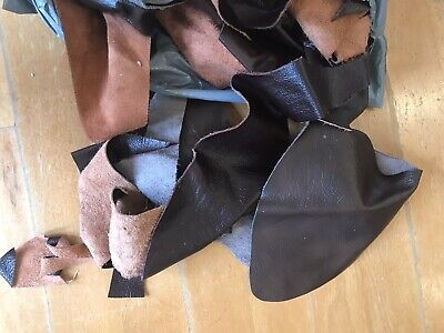 £4 • Buy 2kg Bag Of Mixed Quality Scrap Leather Arts & Crafts,Off Cuts,Remnants,Pieces
