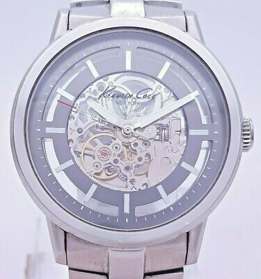 $ CDN13.22 • Buy Kenneth Cole Skeleton KC3925 New York Automatic Analog 46mm Men's Watch With BOX