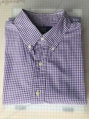 £7.99 • Buy Polo By Ralph Lauren Gingham Long Sleeved Shirt Large