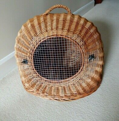 £25 • Buy Natural, Willow Wicker, Portable, Igloo Shaped, Pet/ Dog/Cat House, Carrier