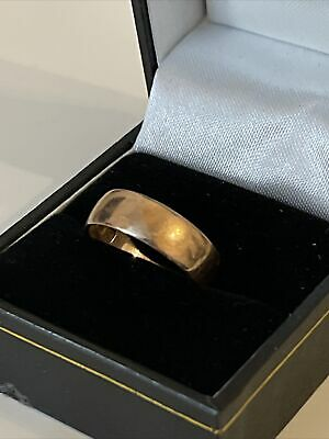 £100 • Buy Attractive Vintage 9ct Rose Gold Wedding Ring  Band Birmingham - Size Q