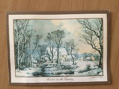 $ CDN7.99 • Buy Vintage Greeting Card Currier & Ives  Winter In The Country  Christmas &new Year