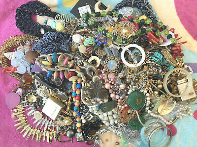 $ CDN1.25 • Buy 12 Lbs! Junk Jewelry Parts & Pieces Lot Vintage To Now Repurpose Craft Recreate!