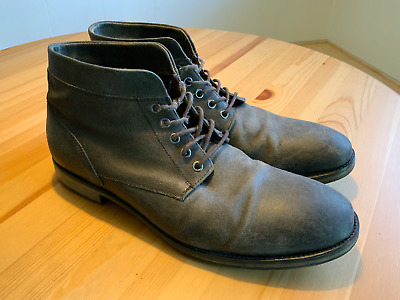 $45 • Buy Aston Grey Denali Mens Distressed Soft Leather Chukka Boots Size 11 Lace Up