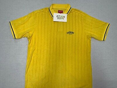 $ CDN27.93 • Buy [pre-owned] Supreme Terry Knit Polo  Tee T Shirt Box Logo Yellow L Large