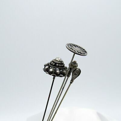 £9.01 • Buy Antique Hatpins-4 Silver Hat Pins, One Price, NR