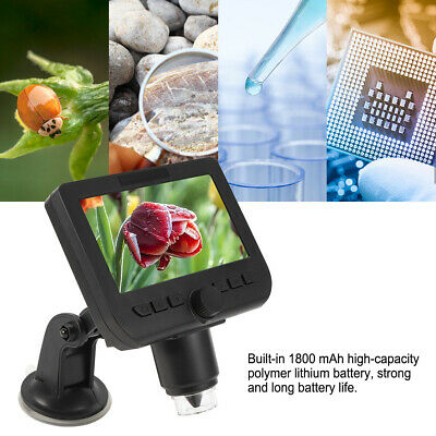 £40.18 • Buy Electronic Magnifier Aluminum Alloy Strong 4.3-Inch Microscope Long Battery Life