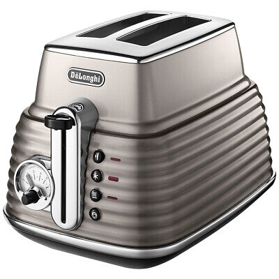 AU91.87 • Buy Delonghi Scultura 2 Slice Toaster Electric Metal Crumb Tray Browning Defrost