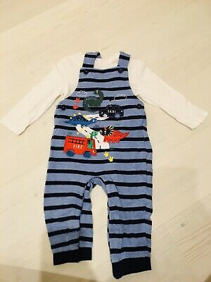 £7 • Buy Blue Zoo Boys 12-18 Months Baby Toddler Dungarees