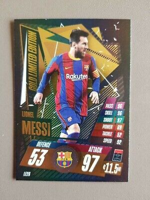 £1 • Buy Lionel Messi Gold Limited Edition Card Le2g - Match Attax Season 2020/21