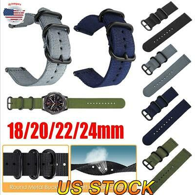 $7.97 • Buy Soft Woven Nylon Watch Band Sport Strap 18/22/20/24mm Watch Replacement Bands US