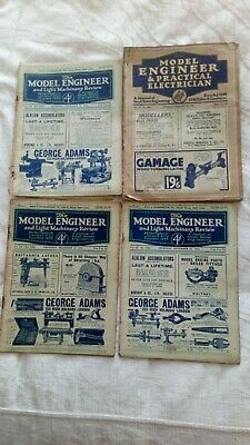£2.10 • Buy 4 Vintage MAGAZINES 1925 THE MODEL ENGINEER & PRACTICAL ELECTRICIAN 1936
