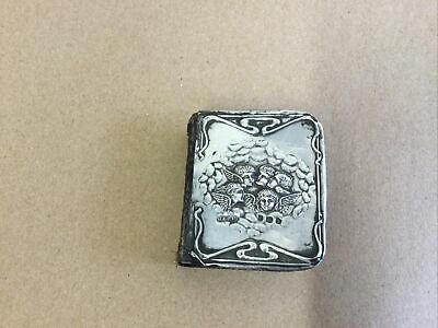 £25 • Buy 1908 Silver Fronted Miniature Common Prayer Book - Full Hallmarks - Art Nouveau