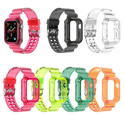 $ CDN10.03 • Buy Transparent Watch Band Strap For Apple Watch Series IWatch 6 5 4 3-1 SE 38-44mm