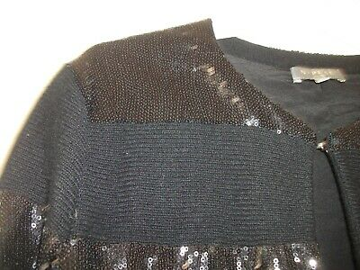 £65 • Buy N Peal Cashmere Cardigan Size Small Black With Black Sequins.