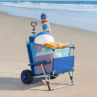 $144.40 • Buy Mac Sports 2-in-1 Beach Chair Day Folding Lounge Chair Cargo Cart For Outdoor US