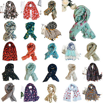 £4 • Buy Kukubird Scarf Shawl Wrap Ladies Butterfly Flamingo Floral Flower Dragonfly P&P