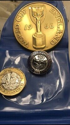 £20 • Buy 1966 World Cup Medal And Enamel Badge