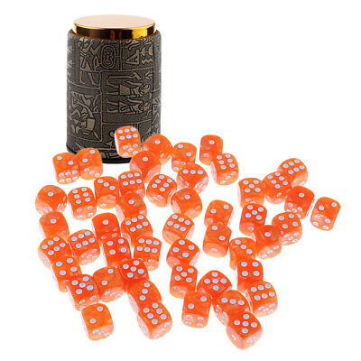 £10.20 • Buy Dice Game Dice Shaker Cup W/ 50x D6 Dotted Dice Ses For MTG TRPG DND Props