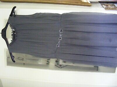 £5 • Buy Next Grey Prom Dress Age 15y Lined & Sequins On Front