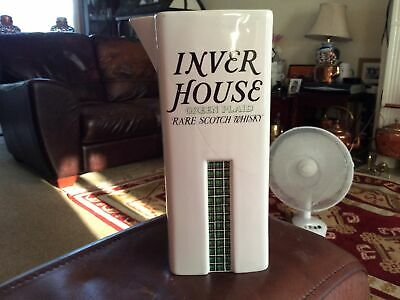 £3 • Buy Inver House Green Plaid Scotch Whiskey Pub Water Beer Jug Wade 1980's