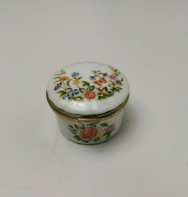 £6.95 • Buy Aynsley Cottage Garden Trinket / Ring Box Floral Butterflies English China