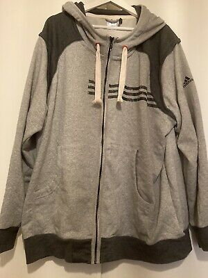 £5 • Buy Mens Adidas Climalite Grey Zipped Hoody Size Xxl In Good Condition