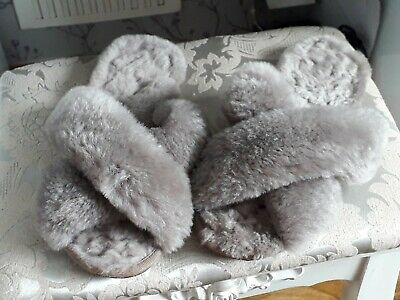 £22.99 • Buy Womans Just Sheepskin Slippers  Grey  Used  Size 7/8