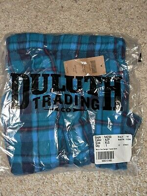 $17 • Buy Duluth Trading Free Swingn' Flannel Boxer, Men's Size XL, Blue Plaid
