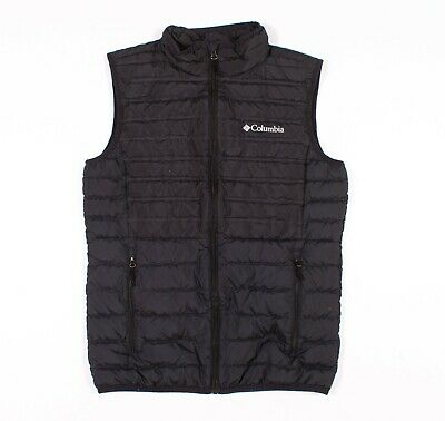 $19.74 • Buy Mens Columbia Black Down Puffer Sleeveless Vests Jacket Size S Small